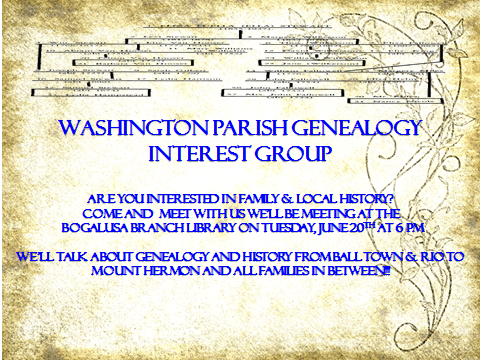Washington Parish Genealogy Interest Group